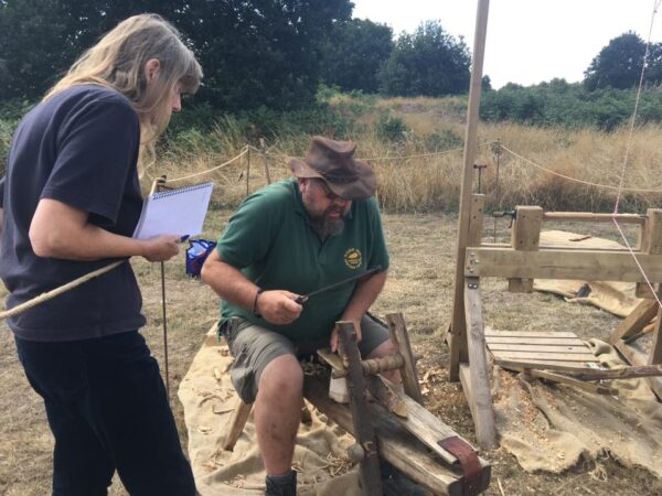2018 08 10 Sherwood heath open day Demonstration by The Wobbly Bodger